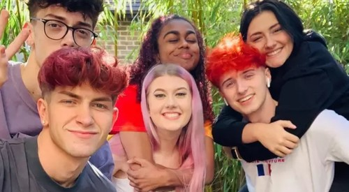 Britain's first TikTok house gay couple fly flag for LGBT+ representation under lockdown