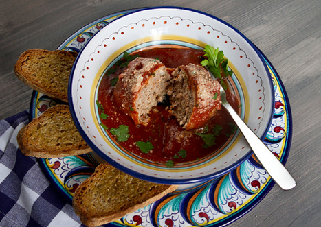 Italian Food Forever » Pancetta Wrapped Polpettone In Red Wine ... | Wine and food | Scoop.it