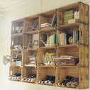 Shelves made ​​with fruit boxes | DIY pallet furniture | pallets furniture | Scoop.it