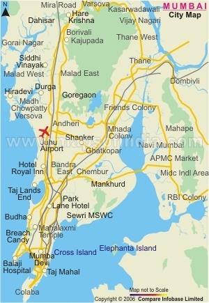 India Map Of Mumbai Behind The Beautiful For