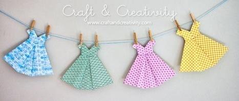 DIY : une robe en origami! | Enfant bébé maman | Scoop.it