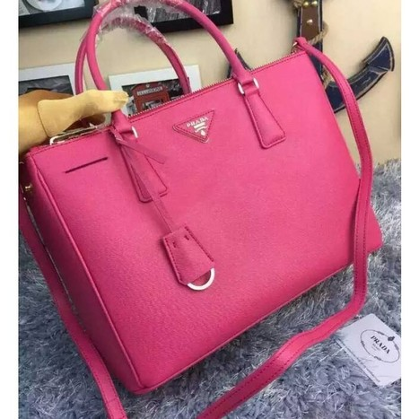 efeb6f44ec10c4 Prada BN2274 Womens Saffiano Leather Tote Rose ...