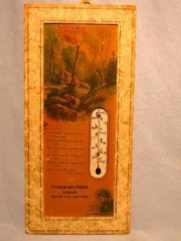 Advertising Thermometer from Fehrer Bros. Garage in Beaver Dam, Wisconsin | Antiques & Vintage Collectibles | Scoop.it