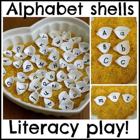 The Imagination Tree: Alphabet Shells Playful Literacy Games | Literacia no Jardim de Infância | Scoop.it