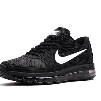 Nike Air Max 2017 Men Black White Logo Running