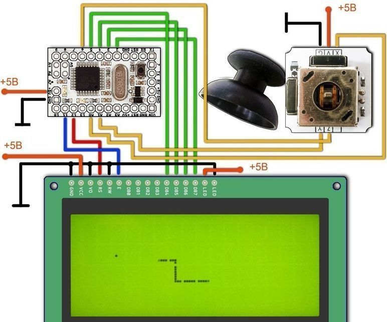 Arduino looong snake game with lcd elect