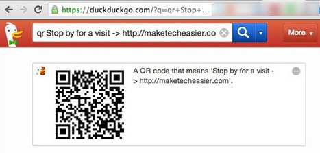 Comment créer rapidement des QRCodes avec DuckD... | Enlettrées | Scoop.it