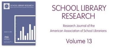 School Library Research (SLR) Volume 13 | American Association of School Librarians (AASL) | Middle School information seekers | Scoop.it
