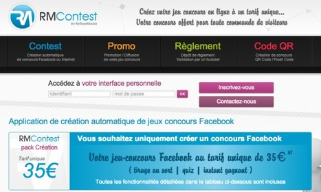RMContest : la nouvelle application pour créer un jeu concours Facebook ! | Le marketing digital du tourisme | Scoop.it