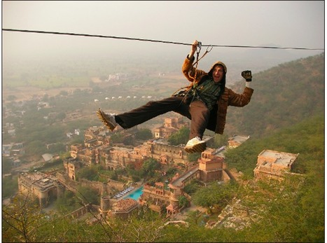 Flying Fox in Neemrana | Most Adventurous Aerial tour in India with Flying Fox | Scoop.it