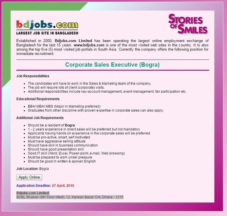 Career Opportunities Largest bdJobs Site in Ban