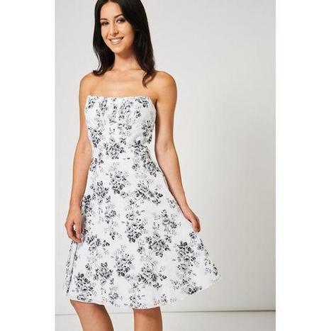 0bfa430177 Day Dresses | Shop Women's Black Floral Print Dress at Fashiontage |  ANETA-A2-