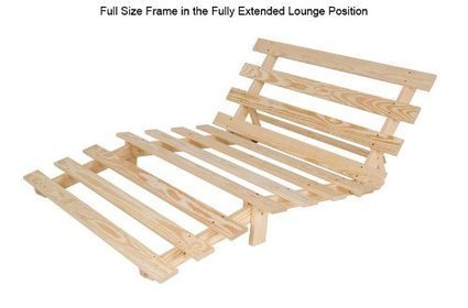 5ab52dd878e7 Reviews this Full Size Economy Futon Frame Solid Wood Chemical Free Made In  USA Armless Design No Sides
