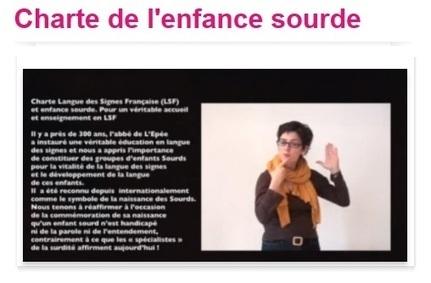 Charte LSF et enfance sourde – Pour un véritable accueil et - FNSF | Pour les sourds, et les autres... | Scoop.it