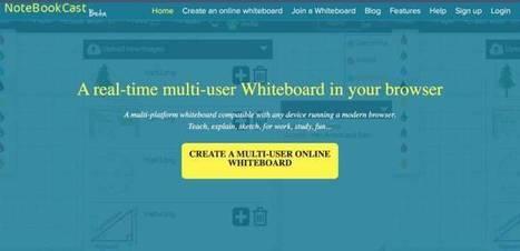 NoteBookCast. Un tableau blanc en ligne, collaboratif et gratuit – Les Outils Tice | web by Lemessin | Scoop.it