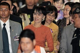 Suu Kyi Takes First Trip in 24 Years   Food for Thoughts   Scoop.it
