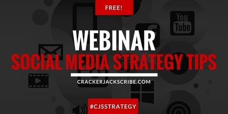 Social Media Marketing Strategy Tips | Webinar | Crackerjack Scribe | The Twinkie Awards | Scoop.it