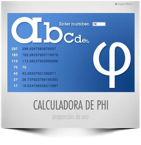 Calculadora de Φ.- | Matemáticas.- | Scoop.it