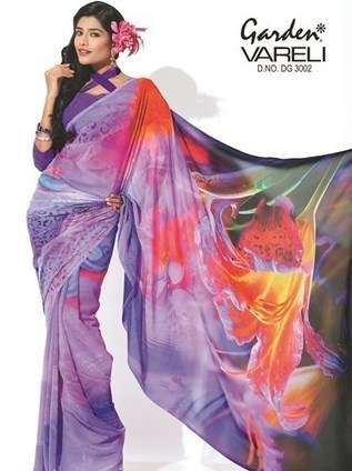 Lavender Blush Printed Saree Online In India At Best Garden Silk Mills
