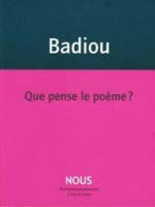 (agenda) 24 janvier, paris, Alain Badiou | Poezibao | Scoop.it