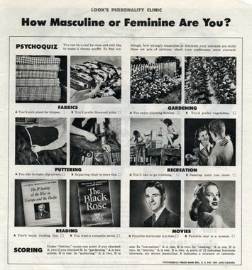How Masculine Or Feminine Are You? | Herstory | Scoop.it