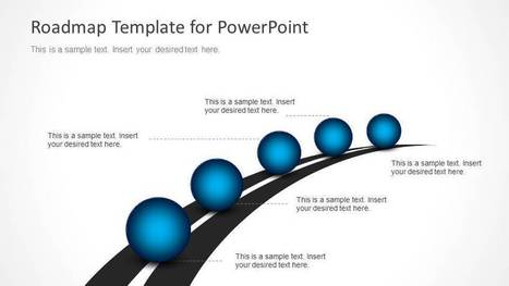 Roadmap Timeline With Spheres For PowerPoint