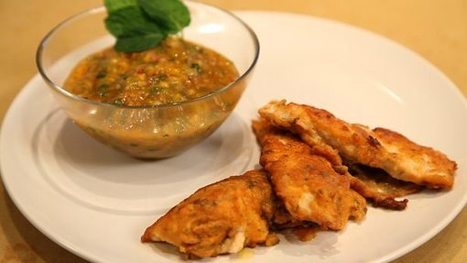 Recipe: Masala Chicken Fingers with Mint and Mango Chutney | Best Dining and Healthy Eating | Scoop.it