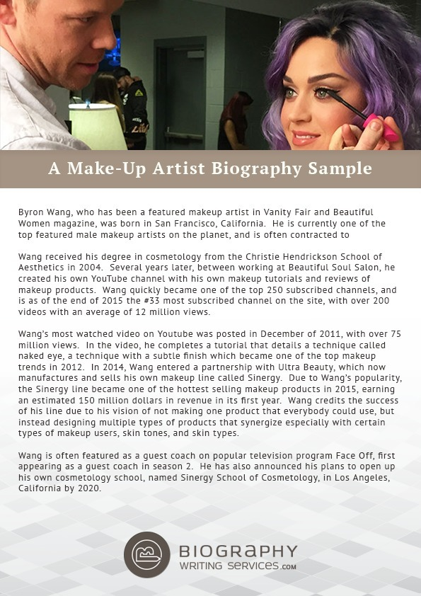 A Make Up Artist Biography Sample Best Biogra