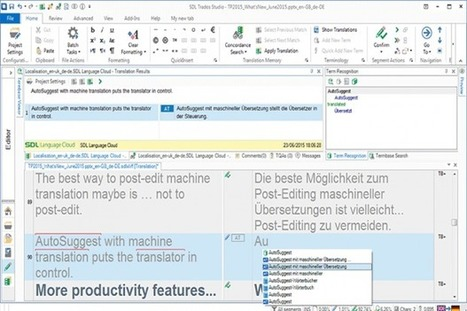 Type less and translate more with Autosuggest 2.0 in SDL Trados Studio and MultiTerm 2015 (from SDL Company Blog) | Translator Tools | Scoop.it