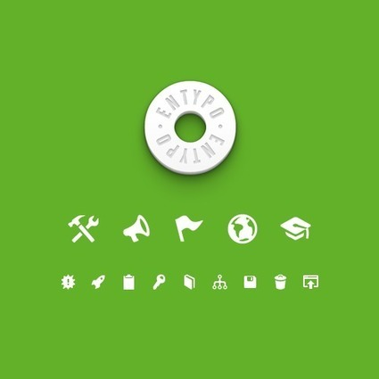 Freebie: Extended Entypo Glyph Set (EPS, PDF, PSD, Typeface, Web Font) | responsive design II | Scoop.it