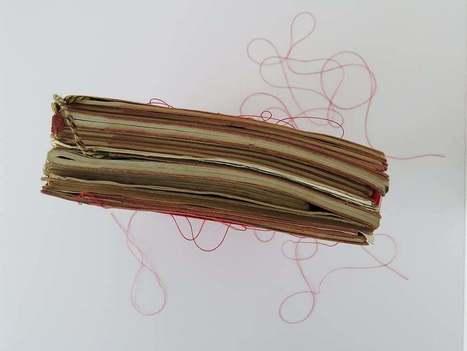 Bookmarking Book Art - Mireille Vautier | Books On Books | Scoop.it