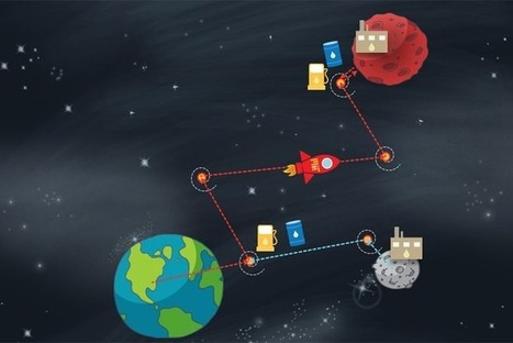 To save on weight, a detour to the moon is the best route to Mars   Space matters   Scoop.it