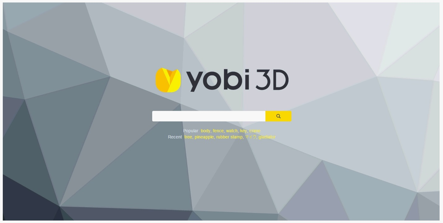 Yobi3D >> Free 3D Model Search Engine | A...