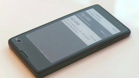 Two-screen phone with e-ink launched | TechWatch | Scoop.it