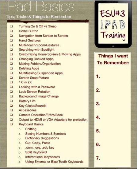 iPad Basics Cheat Sheet ~ Educational Technology and Mobile Learning   Dr. I Principal Tech Tips   Scoop.it