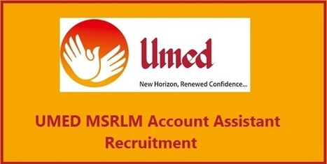 UMED MSRLM Account Assistant Recruitment 2017 Apply 74 DEO Peons
