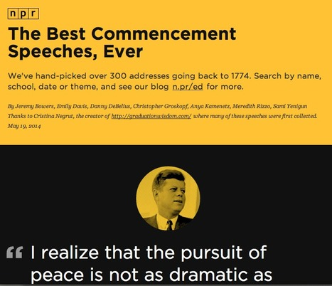 A Curated Collection of the Best Commencement Speeches, Ever | SocialMediaDesign | Scoop.it