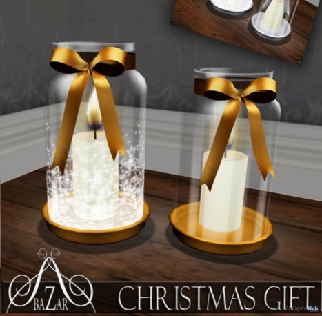 Xmas Candle Jar Silver and Gold Gift by BAZAR | Teleport Hub - Second Life Freebies | Second Life Freebies | Scoop.it