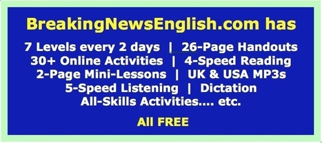 Breaking News English - Easier News Lessons   Aprenent anglès   Scoop.it