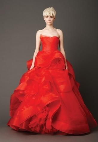 Designer Vera Wang Style Flora Neckline Slight Scoop Silhouette