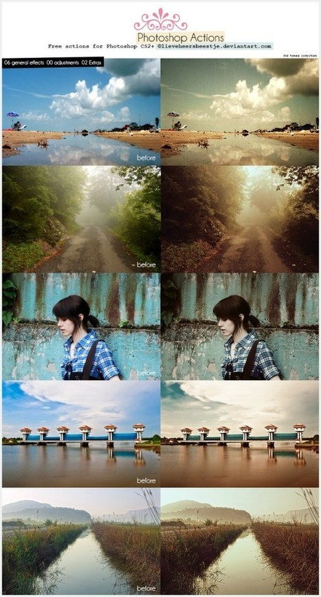 45 Amazing and Free Photoshop Actions | Vandelay Design Blog | photoshop ressources | Scoop.it