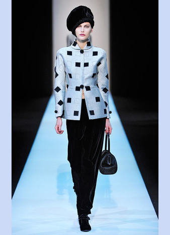 Runway Photos: Giorgio Armani Fall 2013 - W Magazine | TAFT: Trends And Fashion Timeline | Scoop.it