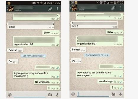 WhatsApp agora mostra quando usuário lê a mensagem com setas azuis   TecnoInter - Brasil   Scoop.it