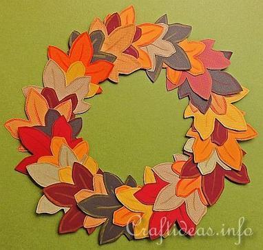 Autumn Crafts For Kids Paper Autumn Wreath