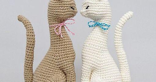 Squishy the Cat Amigurumi - Free Crochet Pattern - StringyDingDing | 268x510