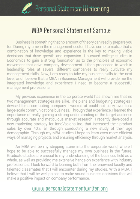 mba personal statement sample personal statement writer samples scoopit