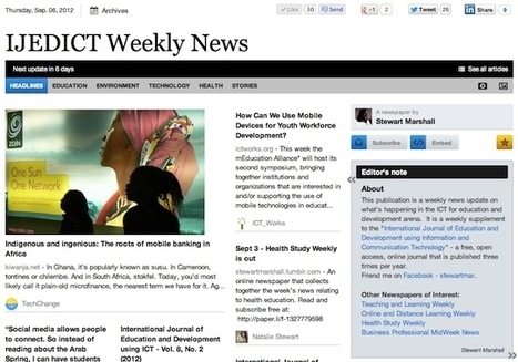 Sept 6 - IJEDICT Weekly News is out | Studying Teaching and Learning | Scoop.it