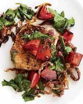 Pork with Arugula, Prosciutto and Tomatoes Recipe - Nancy Verde Barr | Food & Wine | À Catanada na Cozinha Magazine | Scoop.it