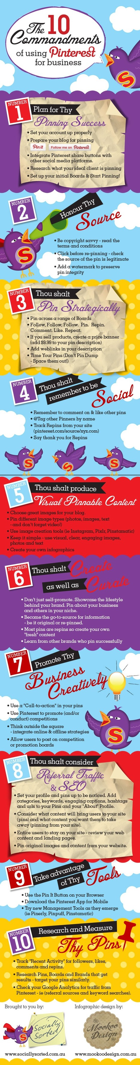 The 10 Commandments Of Using Pinterest For Business [Infographic] - Bit Rebels | MarketingHits | Scoop.it