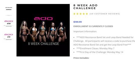ADO Challenge PDF téléchargement gratuit pendant 8 semaines Guide de perte de fitness | Prenez-le
